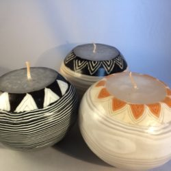 set of 3 beer pot candles
