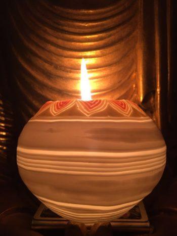 beautifully glowing candle