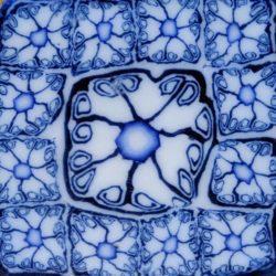 Blue delph pattern
