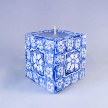 Mini cube ethical candles