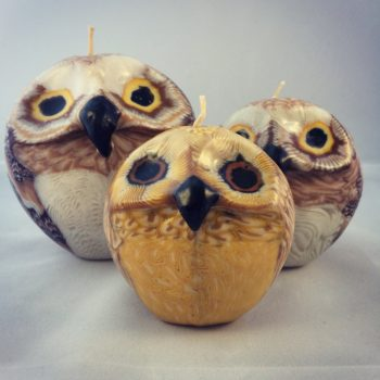 Ethical owl candles