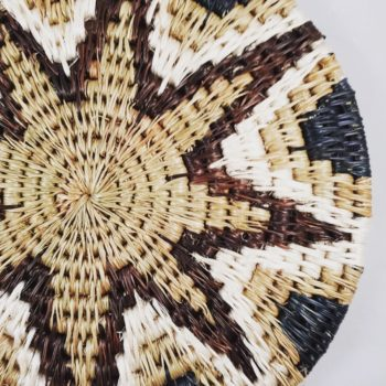 Fairtrade handwoven grass trivet from Gone Rural with star pattern