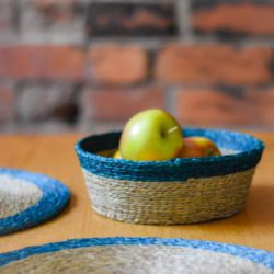 Table with bread basket and placemats
