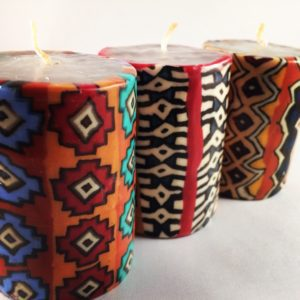 Tribal candles