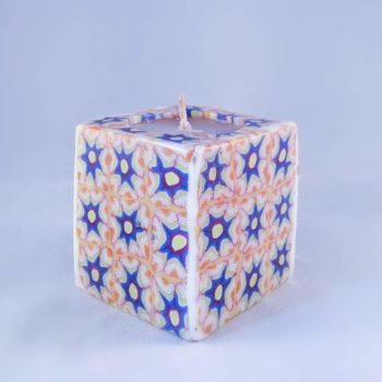 Purple flowers candle