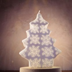 White christmas candles