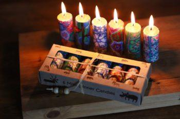Gift set of 6 mini dinner candles
