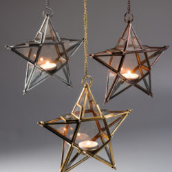 hanging star tea lights