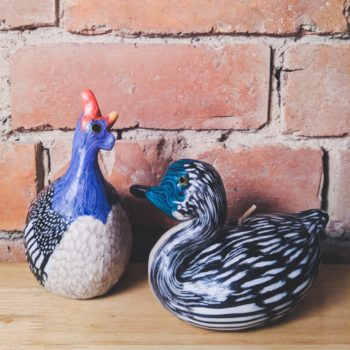 guinea fowl and duck candle