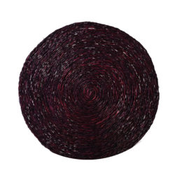 Solid plum coloured woven placemat