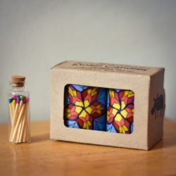 Candle and matches gift set