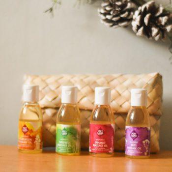 4 mini bottle massage gift set