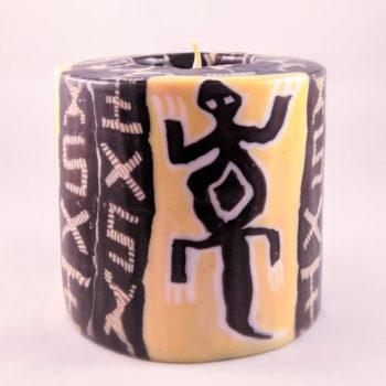 Gecko pattern 9cm pillar candle