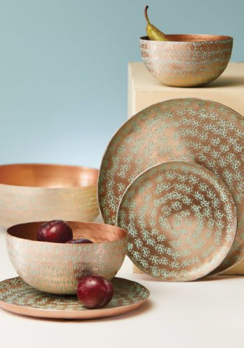 hammered aluminium bowls collection