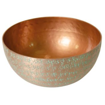 Large hammered aluminium Bowl