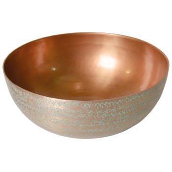 medium hammered aluminium Bowl