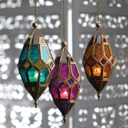 Moroccan hanging lantern and tea light holder