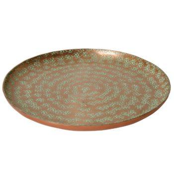 Large hammered aluminium plate