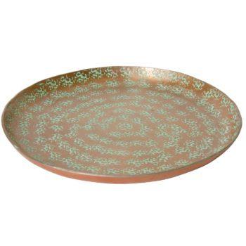 Medium hammered aluminium plate