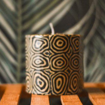 Ethical Dark swirl candles