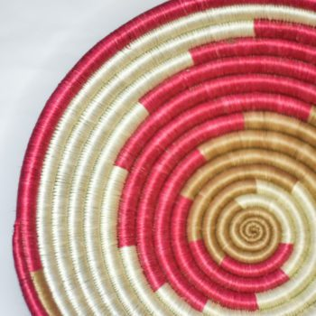 detail of pink swirl basket