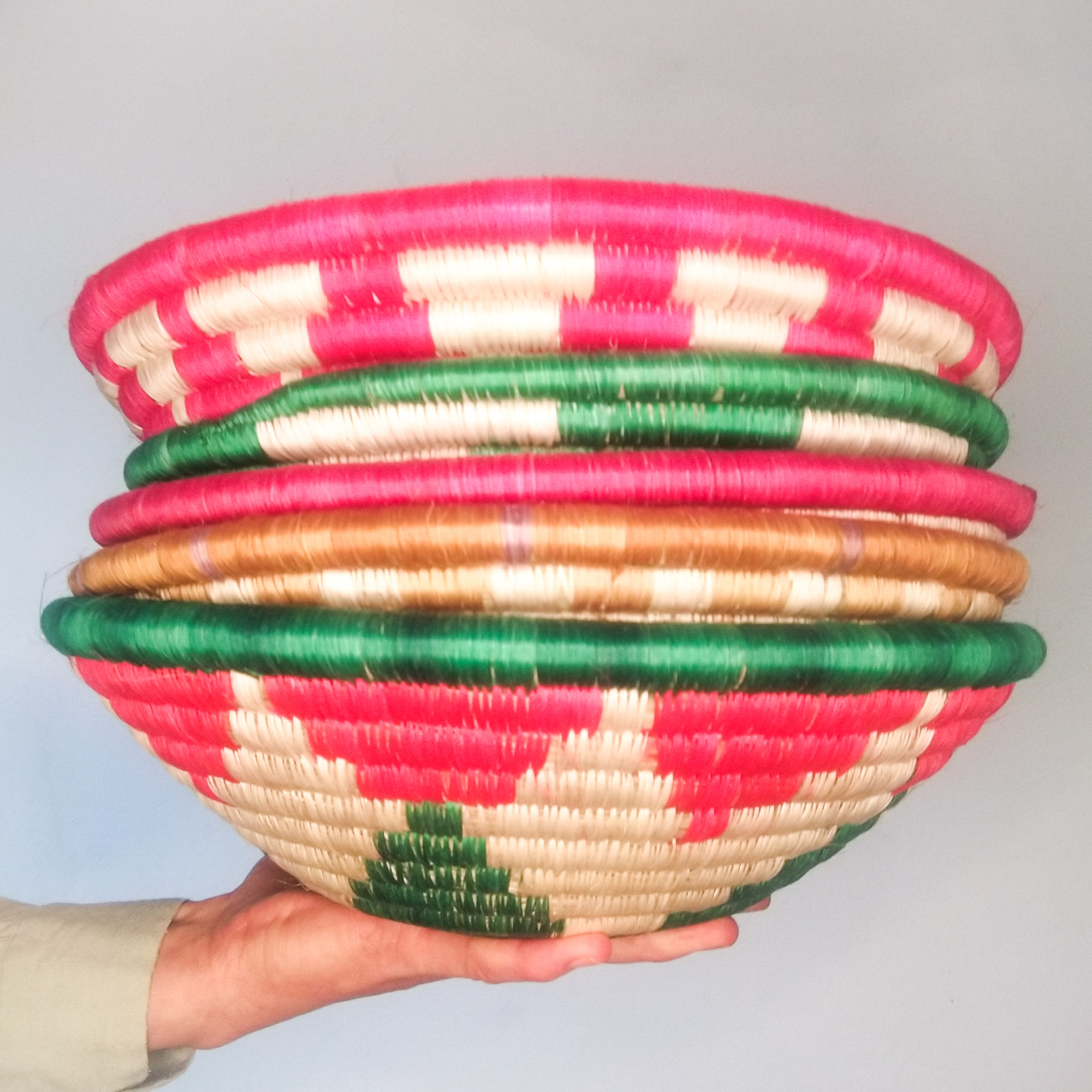 Stack of colourful bowls