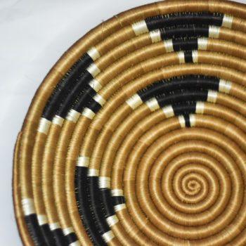 detail of gold and black pattern basket