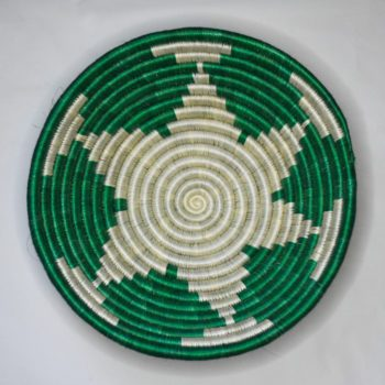 Green star pattern basket