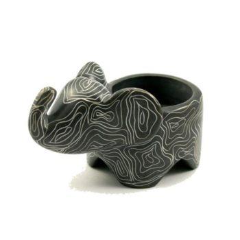 Elephant soapstone tea light holder