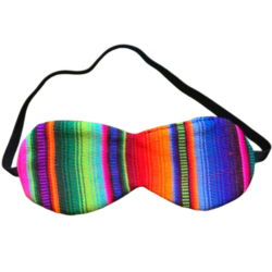 comfortable eye mask with colourful mayan pattern