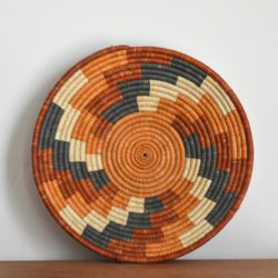handwoven bowl in natural colours from Uganda