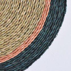 close up forest blush trim placemat